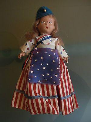 VTG BUNDLES FOR AMERICA DOLL 1940s PATRIOTIC WWII ADELAIDE FROST ANTIQUE US FLAG