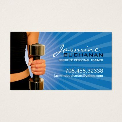 Personal Trainer Business Card Template | template | Pinterest