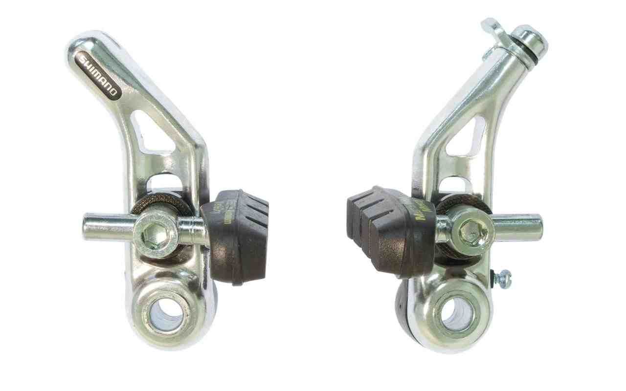 SHIMANO ALTUS CT91 FRONT CANTILEVER SILVER BICYCLE BRAKE WITH LINK WIRE