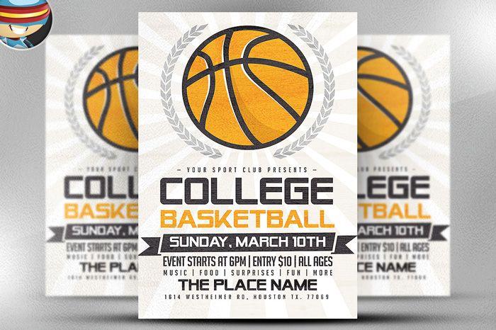 illustrated-basketball-flyer Flyer Templates Pinterest Psd - basketball flyer example