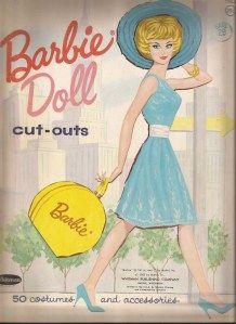 1962 Barbie paper doll folder