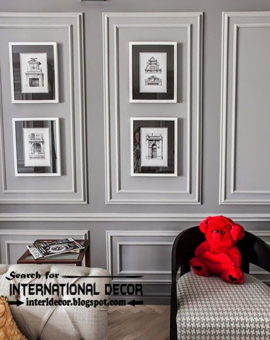 Decorative wall molding or wall moulding designs ideas and panels, frame moldings | Wall ...