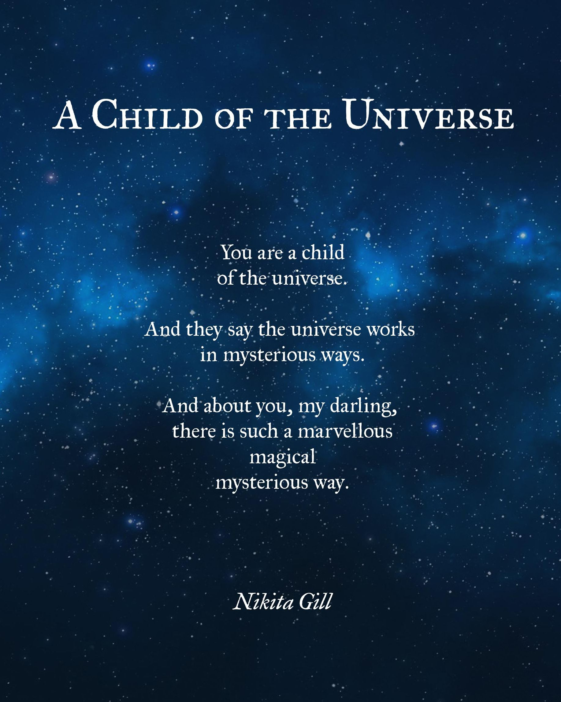 Nikita Gill poetry Universe quotes, Inspirational