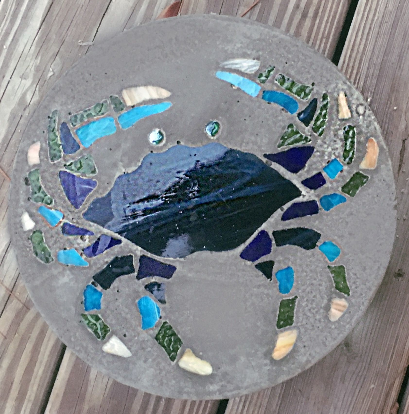 Mosaic Stepping Stone Blue Crab