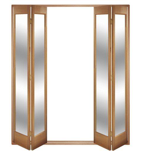 Wood Accordion Closet Doors | 2033x1685-1735 Oak Marston Internal ...