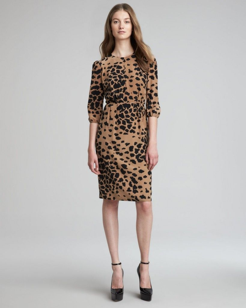 587df6cbff5f9 burberry london animal print camel dress