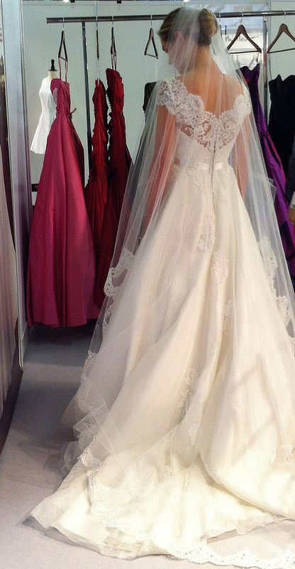 Lace Cap Sleeves Make This Classic A Line Even Sweeter Leaannbelter Davida Wedding Gowns Beautiful Wedding Dresses Wedding Inspiration