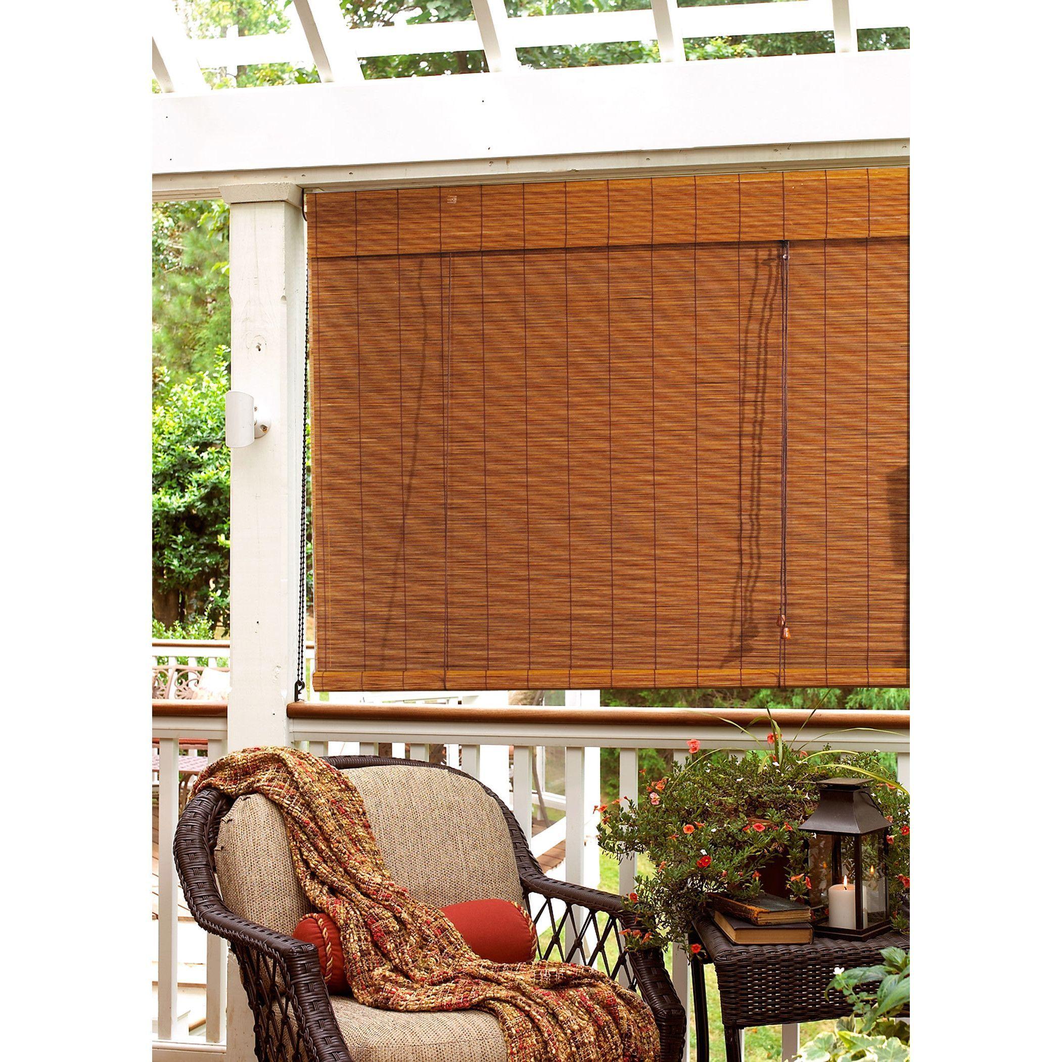 Wayfair 60x74 75 56 Bay Isle Home Outdoor Bamboo Roll Up Blind Rollerblindsandcurtains Fabricverticalblinds Persiana De Madeira Bambu