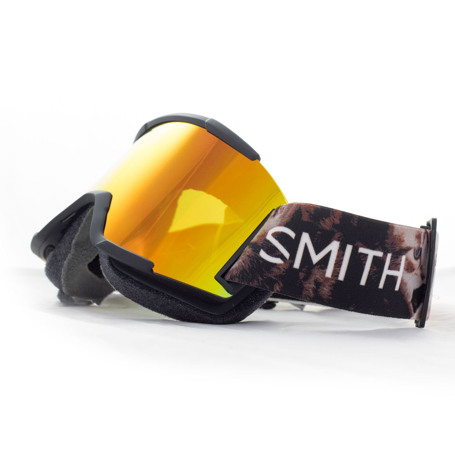 31b75ad9de2c Smith Squad Snow Goggles in Cattastic Design with Red SolX Mirror Lens
