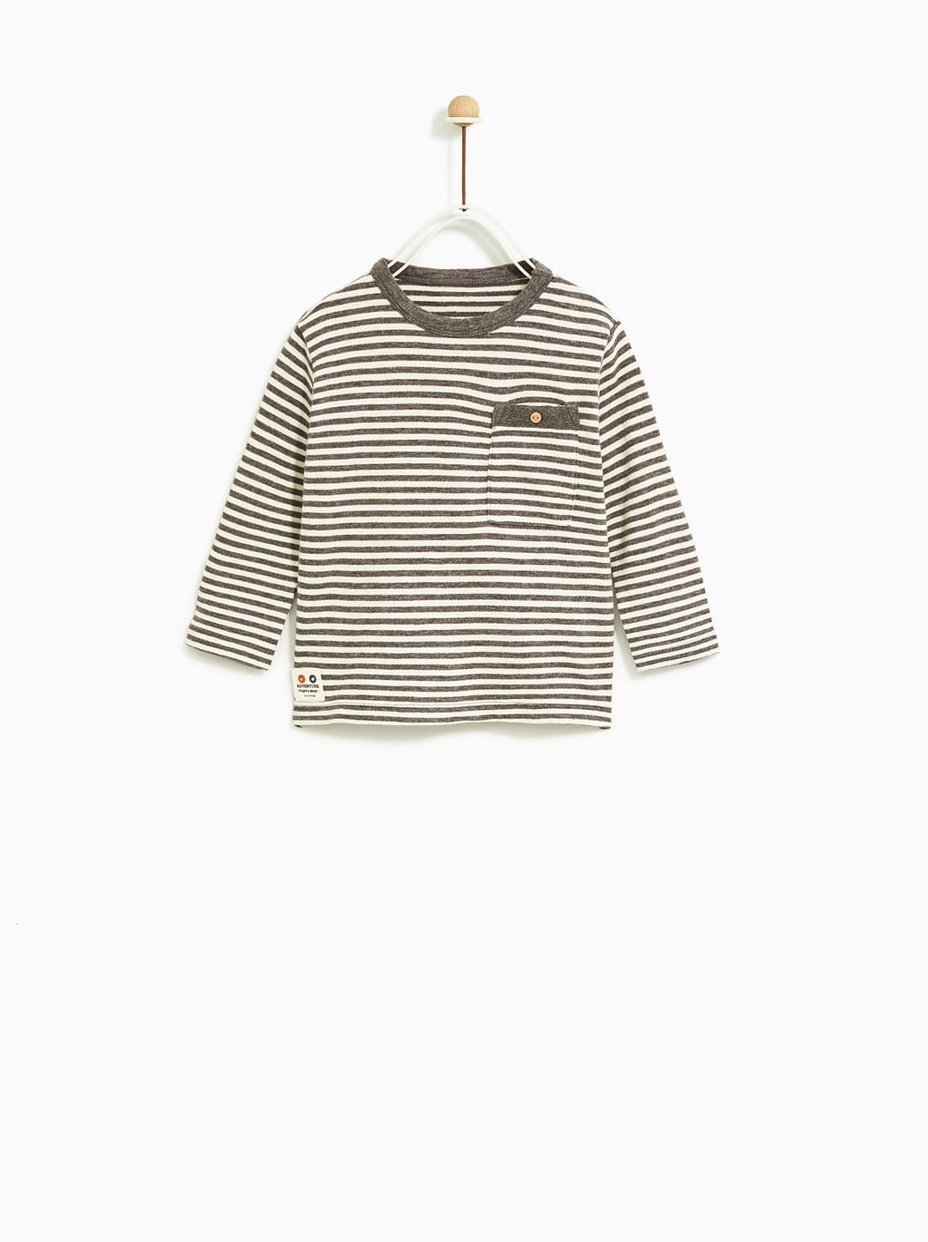 Image 1 Of Striped T Shirt From Zara Son Clothes Baby Clothes Country Baby Outfit Stylish