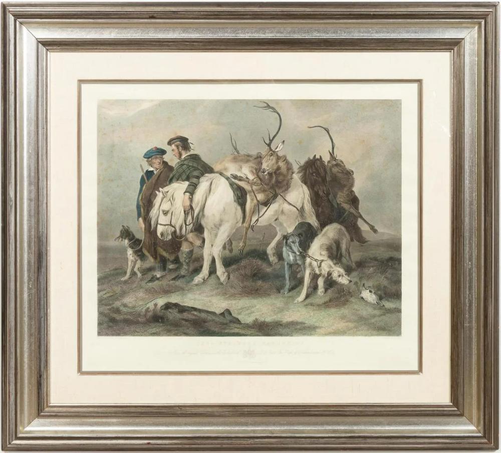 For Auction: DEER STALKERS RETURNING, EDWIN LANDSEER, FRAMED (#0921) on Oct 25, 2020 | Ahlers & Ogletree Auction Gallery in GA
