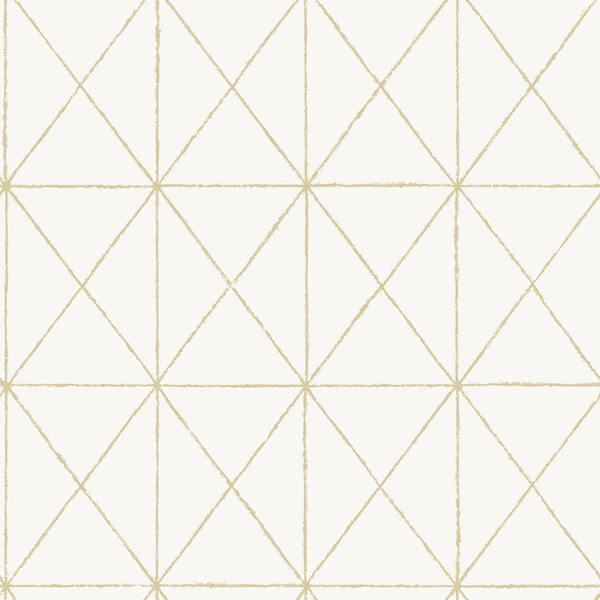 White Gold Get In Line Peel And Stick Wallpaper In 2021 Gold Geometric Wallpaper White And Gold Wallpaper Nuwallpaper