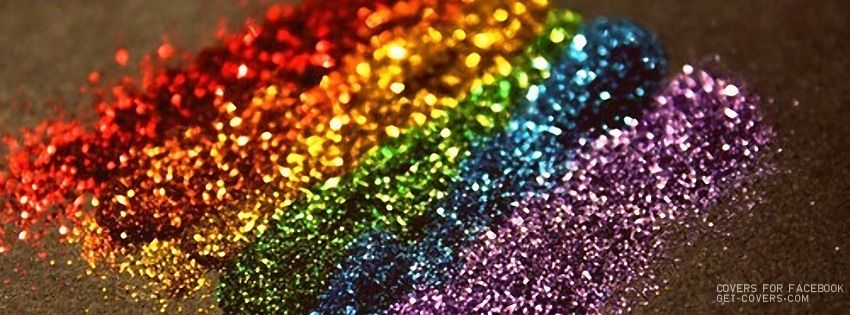 Rainbow Glitter Facebook Covers From Get Covers Com Facebook