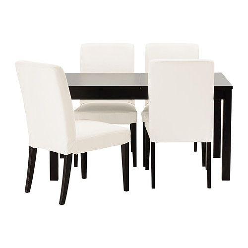 bjursta henriksdal table et 4 chaises ikea table manger avec deux rallonges pour 4 8. Black Bedroom Furniture Sets. Home Design Ideas