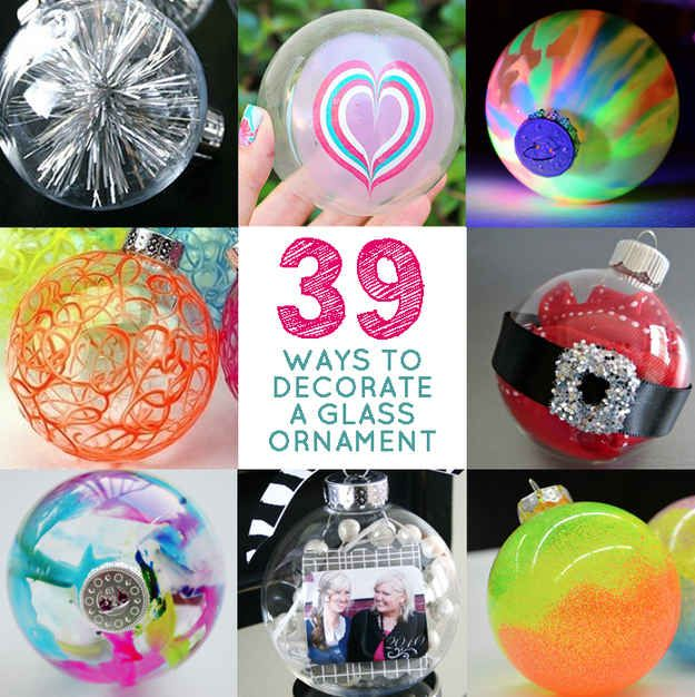 Decorating Ornament Balls 39 Ways To Decorate A Glass Ornament  Ornament Decorating And Glass