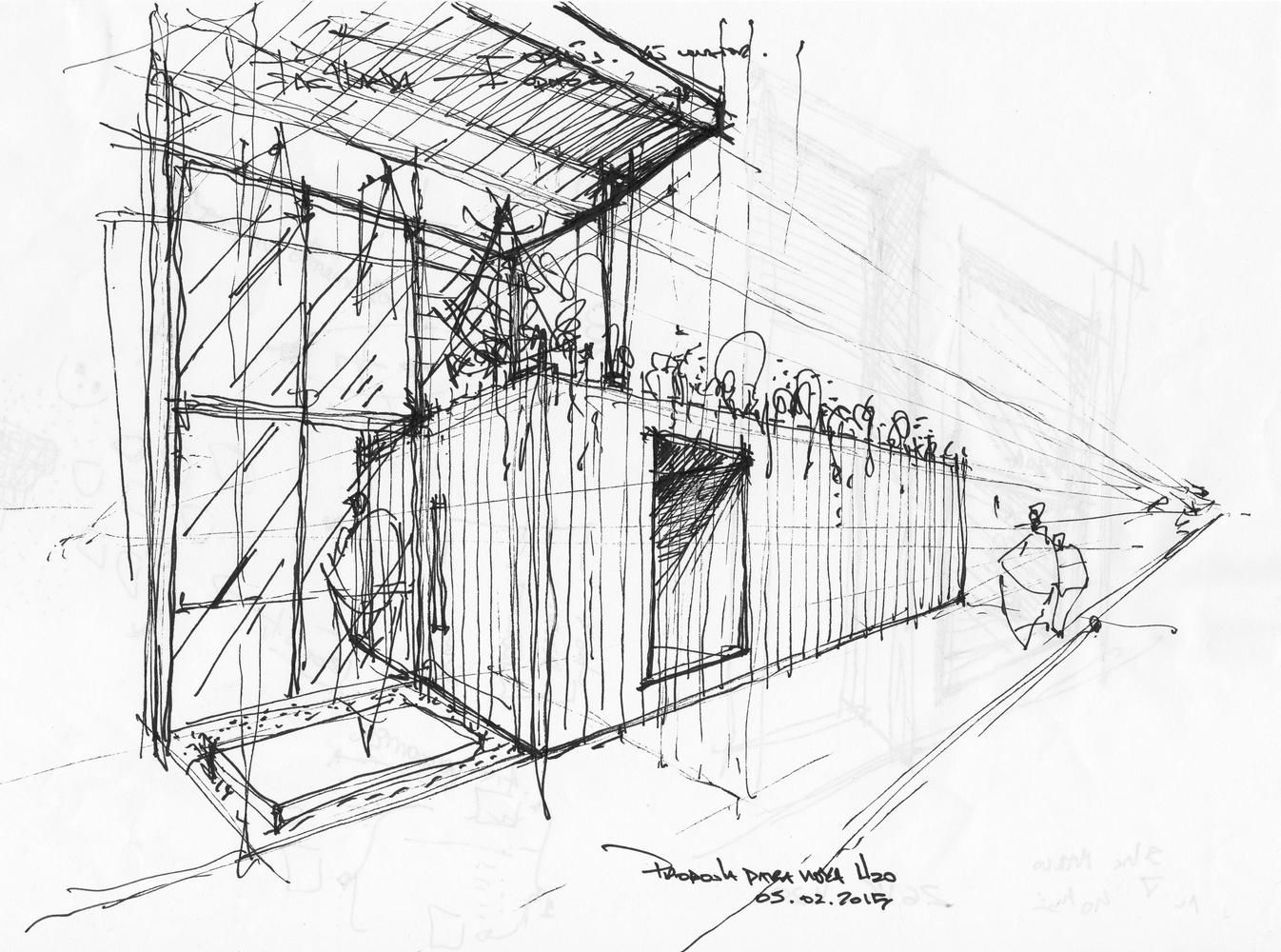 Galería de Loja Conceito / H²O Arquitetura - 21 | Croquis arquitectura, Bocetos  arquitectónicos, Dibujos de arquitectura concepto