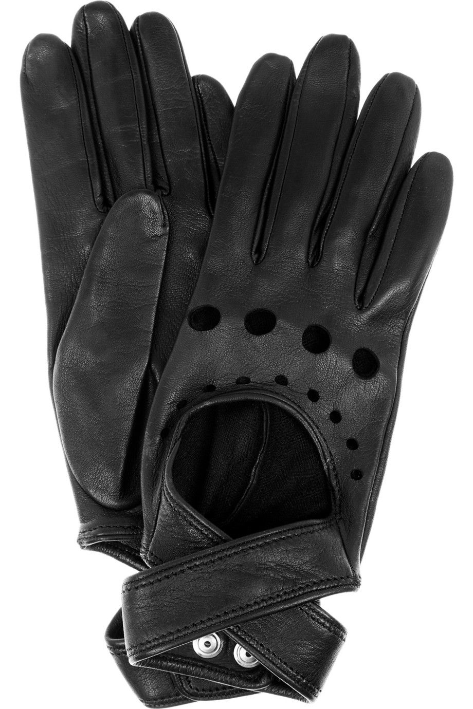 Black leather gloves sydney - Agent Provocateur Cutout Leather Gloves
