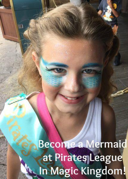Mermaid Makeover At Pirates League In The Magic Kingdom Mermaid
