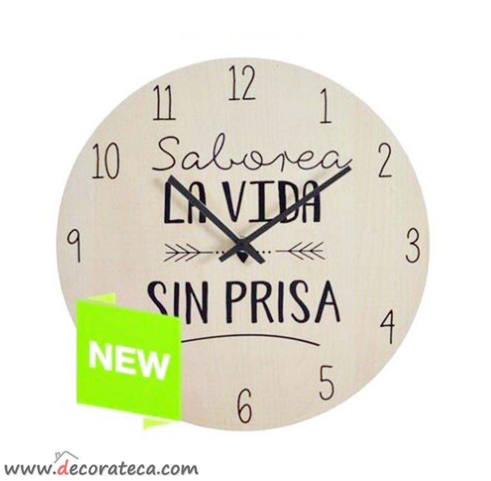 Reloj De Pared Con La Bonita Positiva Y Motivadora Frase