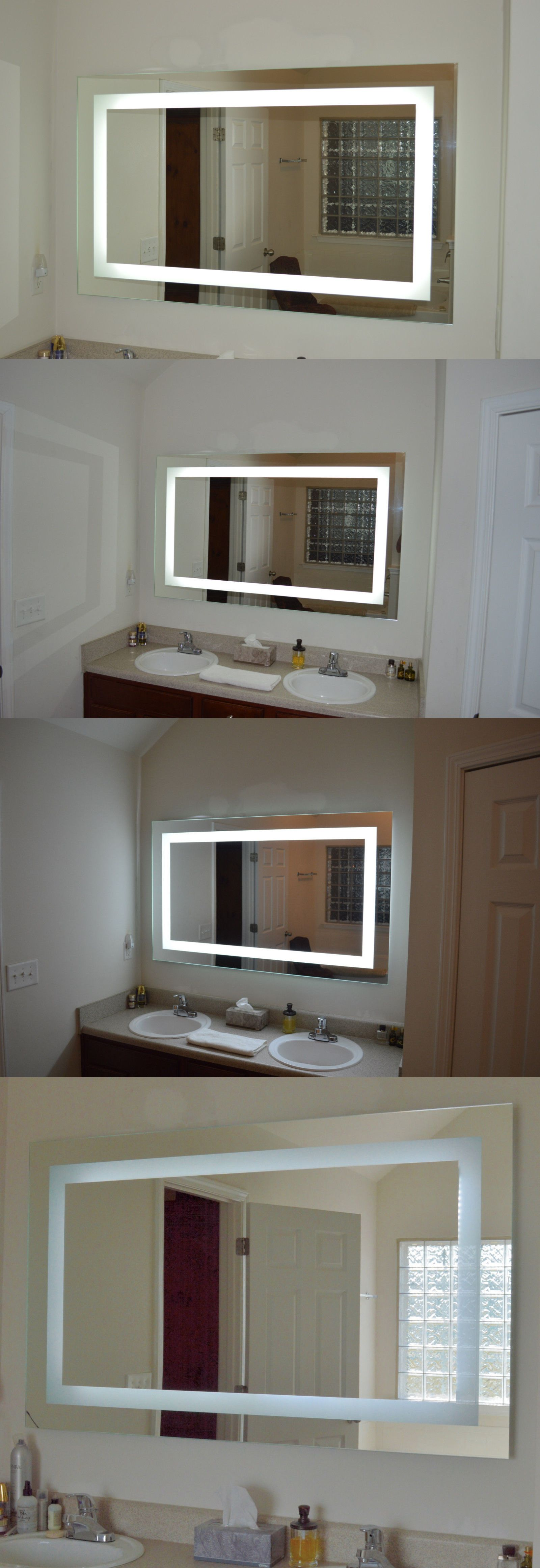 Lighted vanity mirror make up wall mounted led bath mirror mam94331 - Led Makeup Mirror
