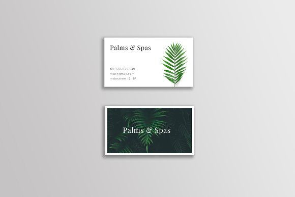 Palms and spas business card templates 90 x 50 mm card size 35 palms and spas business card templates 90 x 50 mm card size 35 x 2 inchesfiles 3 psd files 2 ai files 2 eps files 3 pn by martin mroc reheart Choice Image