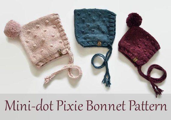 Mini-dot Pixie Bonnet Pattern  aa3bcd27132