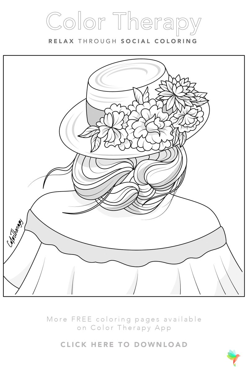 Color Therapy Gift Of The Day Free Coloring Template Color Therapy People Coloring Pages Coloring Pages