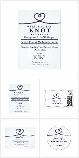 We're Tying the Knot Nautical Wedding Collection