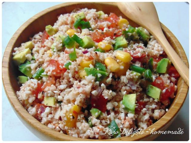 Raw Delights - homemade: Raw mexican rice
