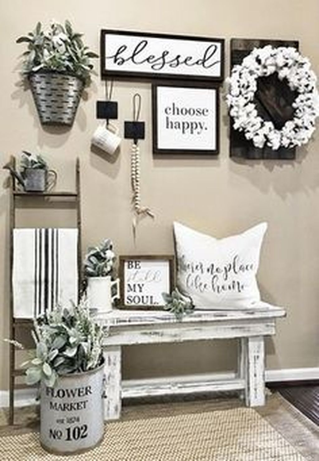 Awesome pretty farmhouse entryway design and decor ideas also home rh pinterest