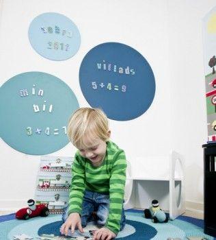 wandgestaltung im kinderzimmer mit dem magnettafel 3er set in blau sebra kinderzimmer. Black Bedroom Furniture Sets. Home Design Ideas
