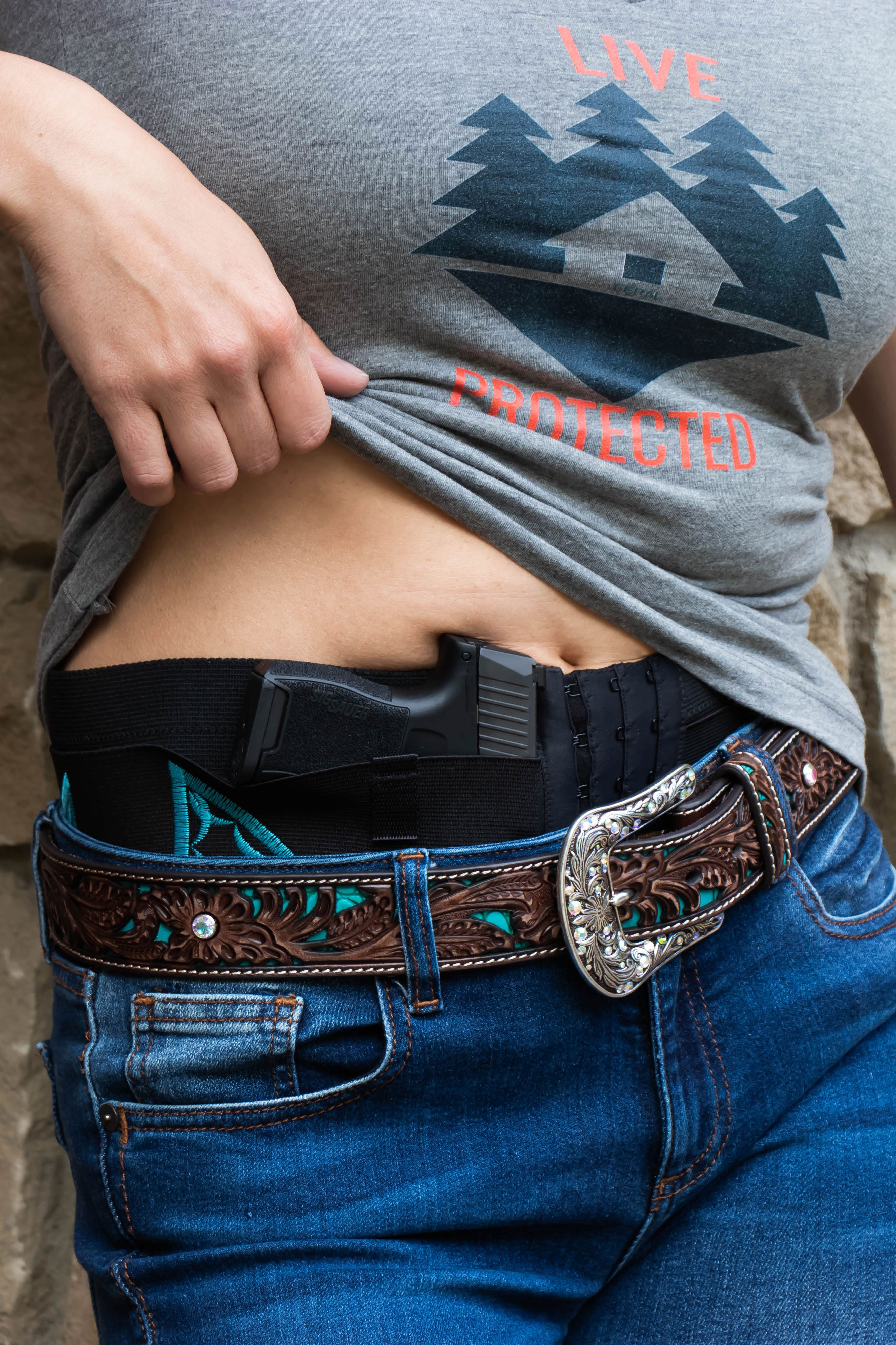 Can Can Concealed-Carry Belly-Band, Feral Components