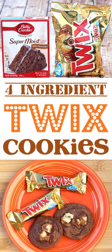 Easy Twix Cookies Recipe! {Just 4 Ingredients} - The Frugal Girls