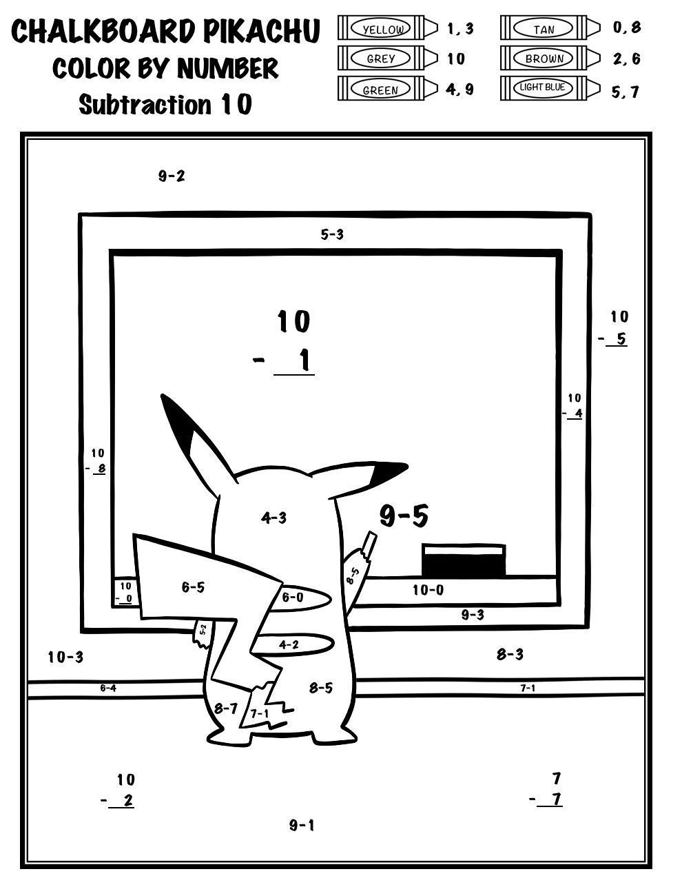 Get Your Students Back Into The Swing Of Things With This Back To School Themed Color By Number Th Math Activities Elementary Pokemon Pokemon Coloring Pages [ 1287 x 990 Pixel ]