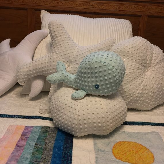 Chenille Baby Whale Stuffed Baby Whale Baby by SewingTropical