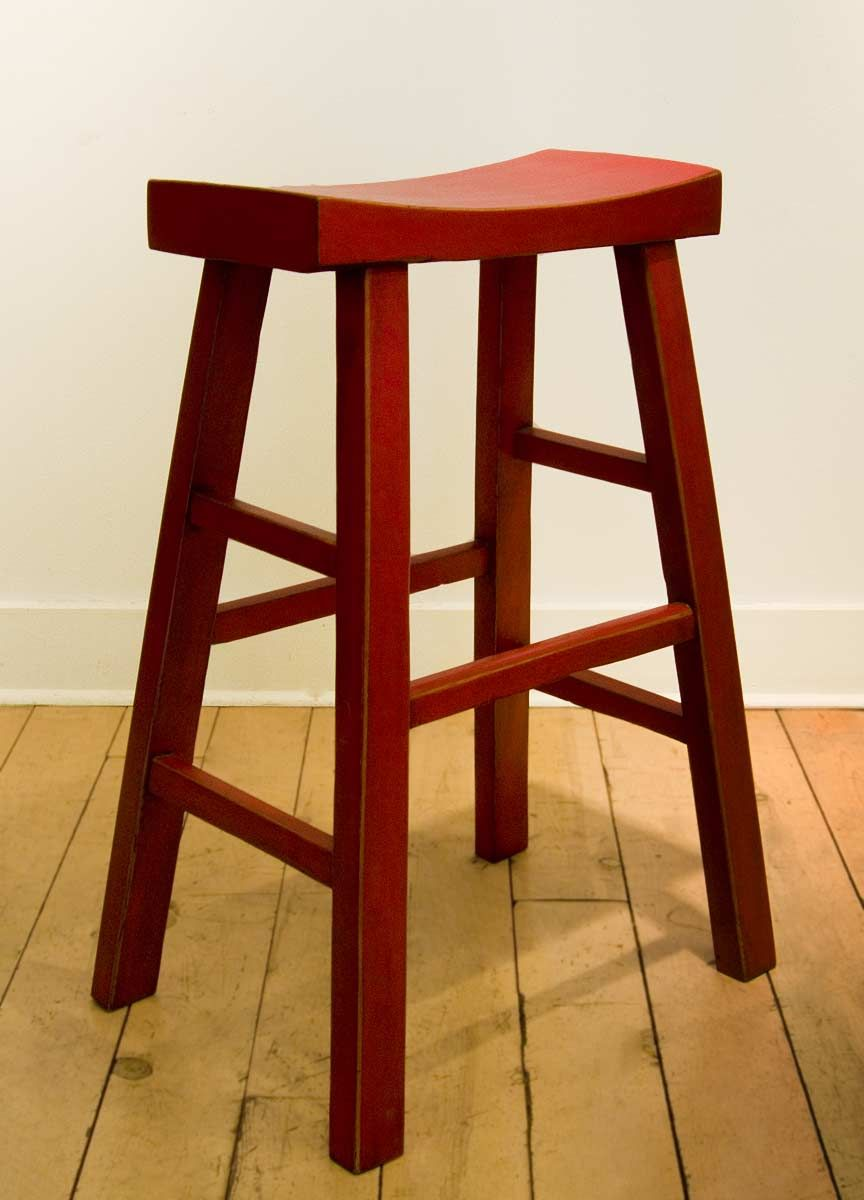 Japanese style Red Lacquer Bar Stools