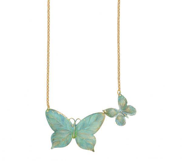 Photo of Grünspan Schmetterling Halskette