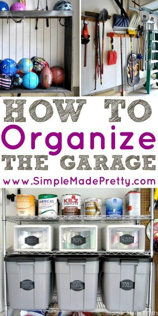 How to Organize a Garage that is Filled with Clutter images