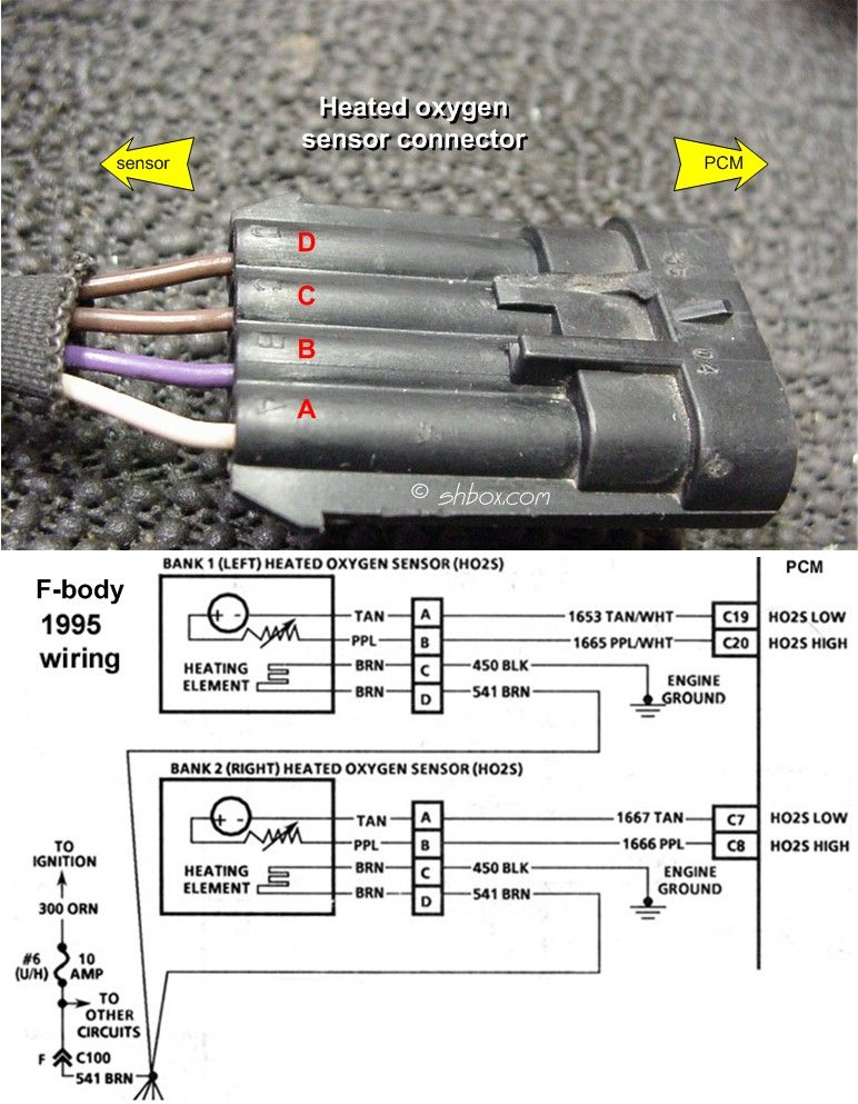 universal lambda sensor oxygen sensor 4 wire high quality not gm o2 sensor wiring diagram shbox com 1