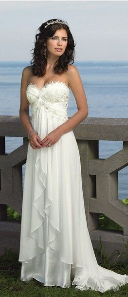 Beach Wedding Dress Elegant Yet Simple And Great For A Sunset To Show