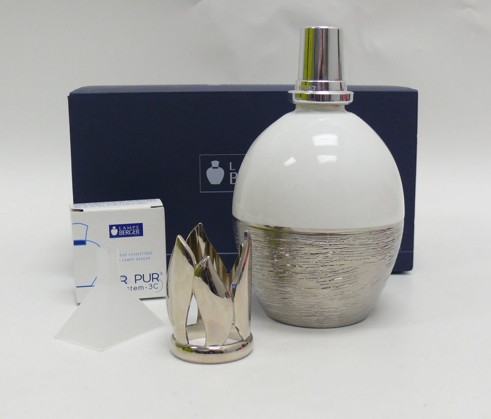 Lampe Berger Fragrance Lamp Silver Effects White 4318 Lpe Effet D Argent Blanch