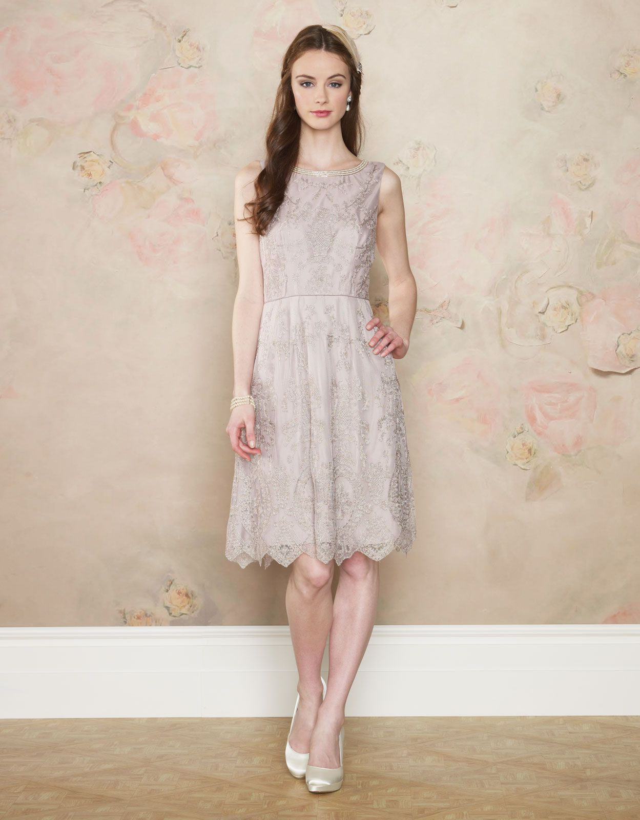 Looking for nude hues for your bridesmaids we love this delicate looking for nude hues for your bridesmaids we love this delicate lace dress ombrellifo Choice Image