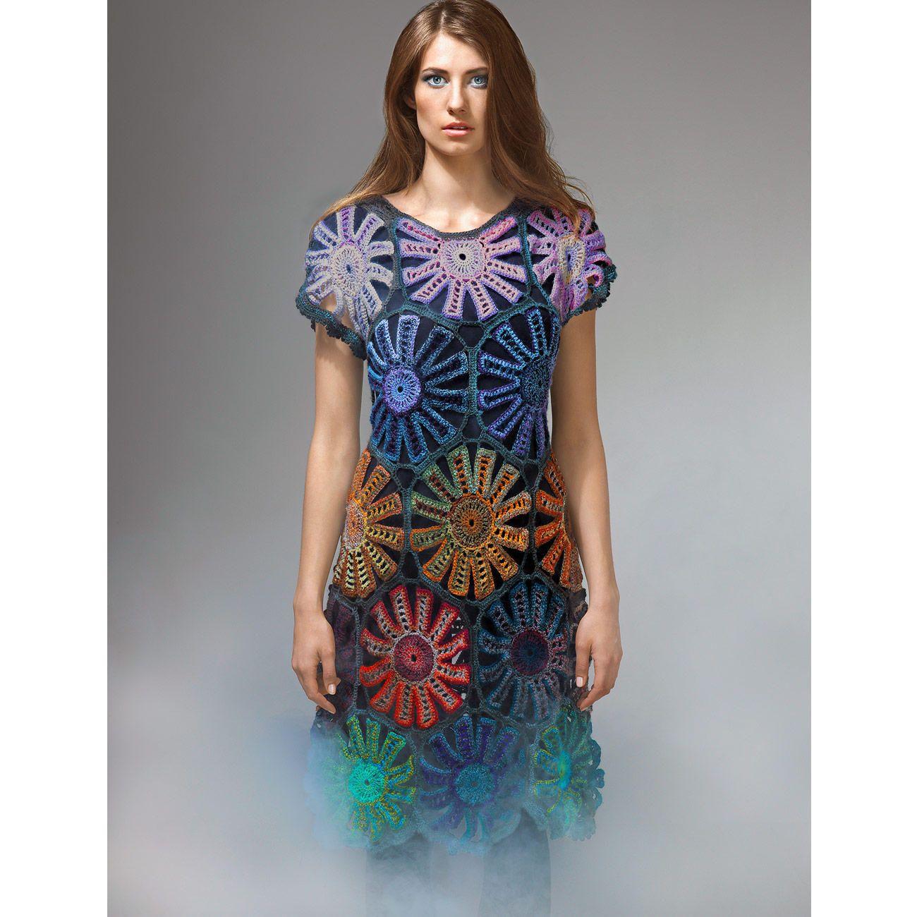 Modell 262/5, Kleid, gehäkelt aus Crazy Zauberball von Schoppel ...