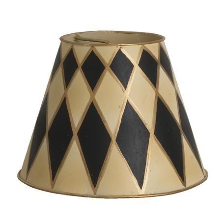 Fresh Black and Cream Lampshade