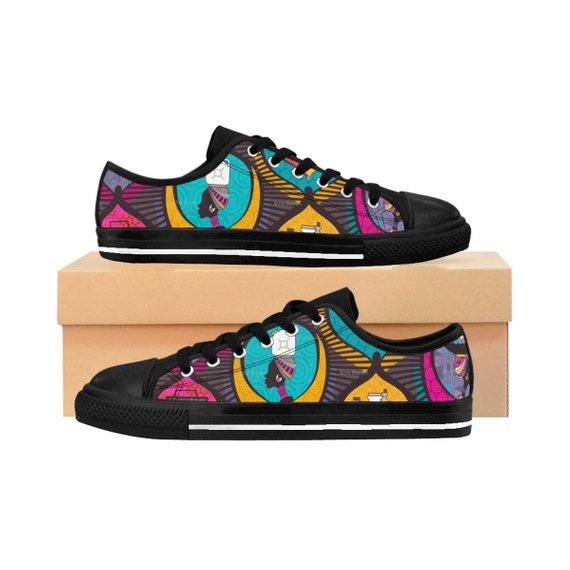 8509efa9bd31 African Print Sneakers People African Print Shoes Ankara Shoes Fabric  Covered Shoes Kente Shoes Custom Made