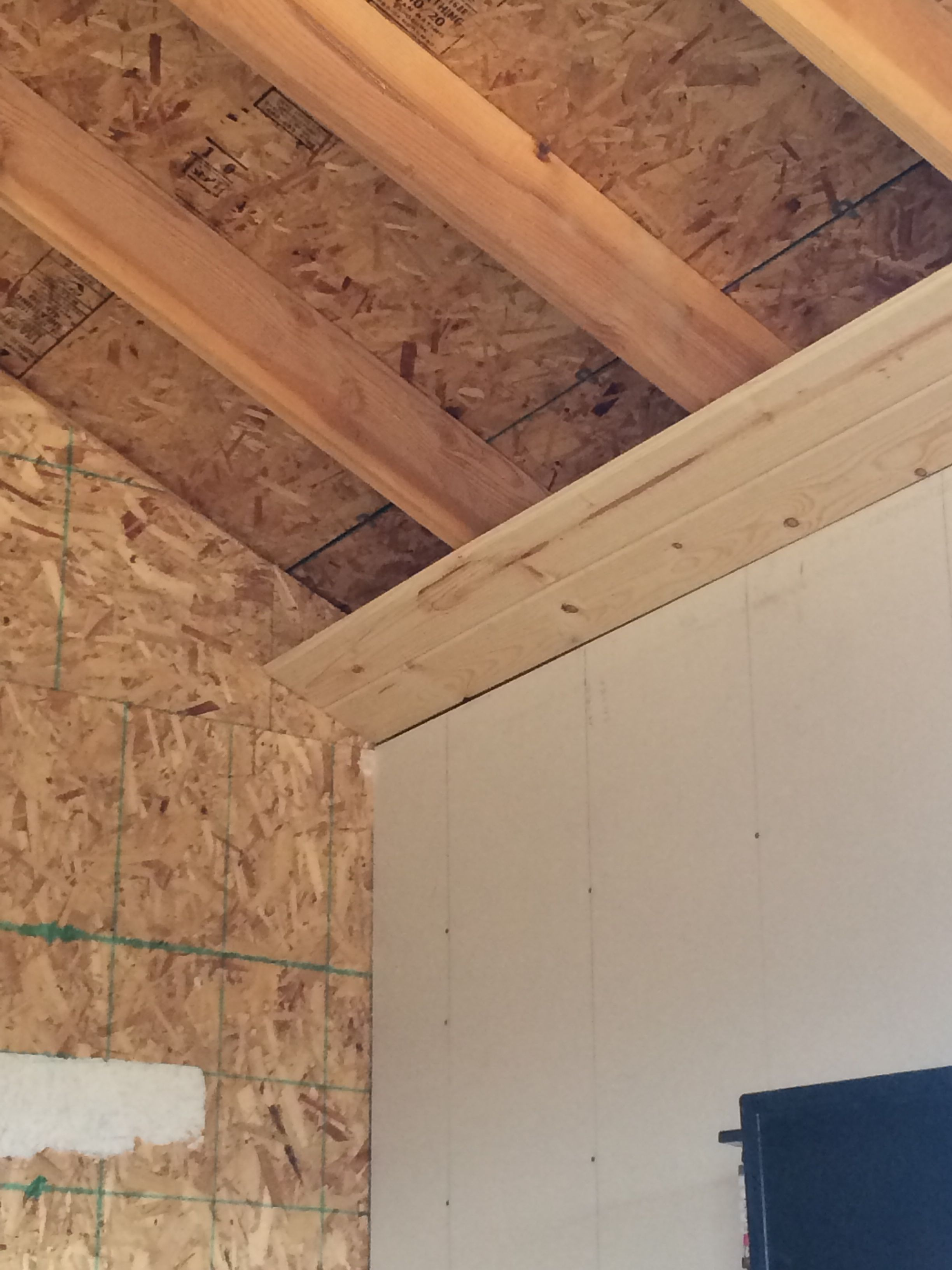 Beginning Of Our Tongue N Groove Pine Ceiling Insulation R 30 Will Be Added As We Go More Pix To Follow Country Porch Ceiling Options Ceiling Insulation