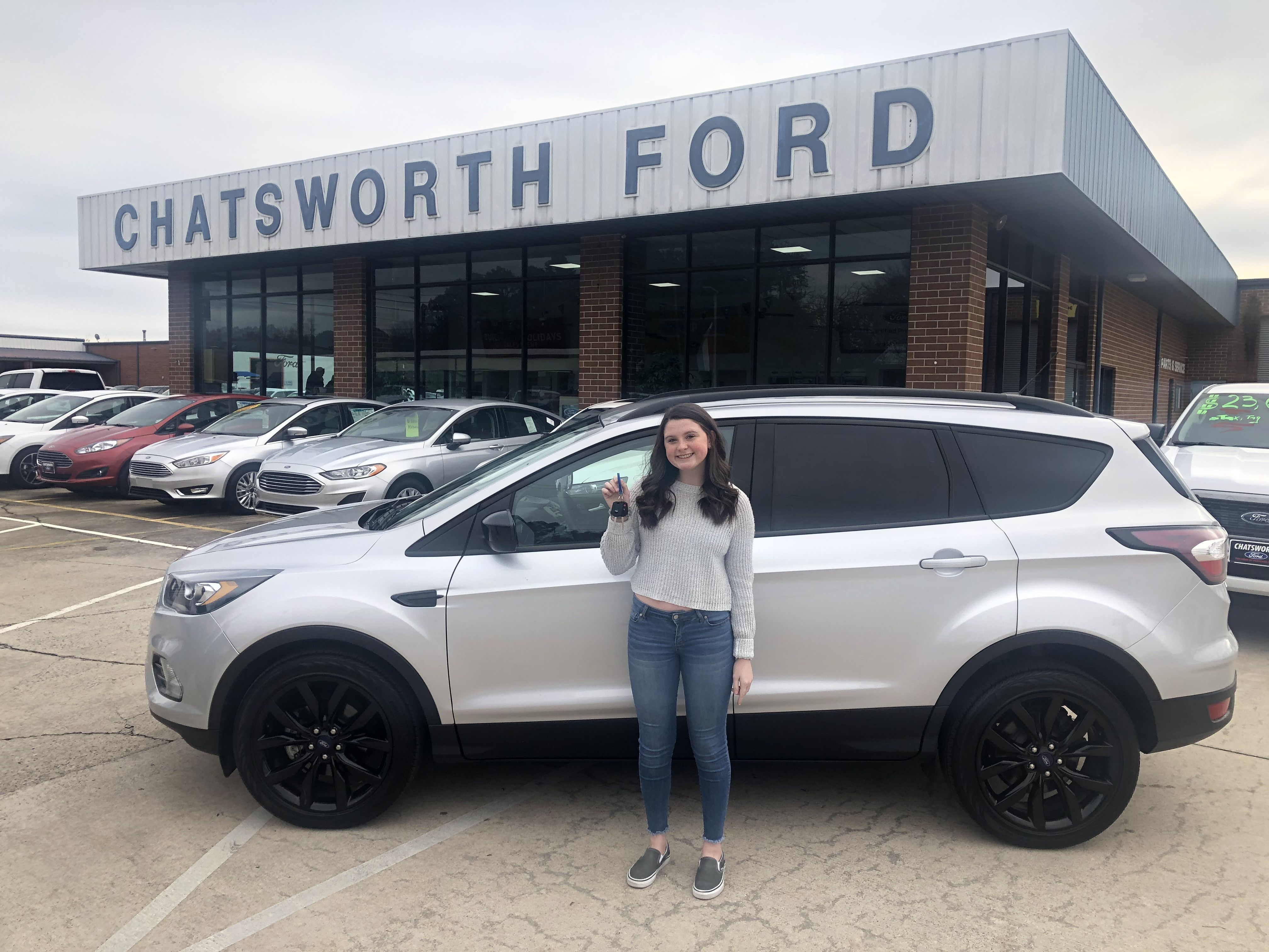congratulations gracie gentry of dalton ga on your new escape sold by cory sims we appreciate your business ford news new and used cars ford pinterest
