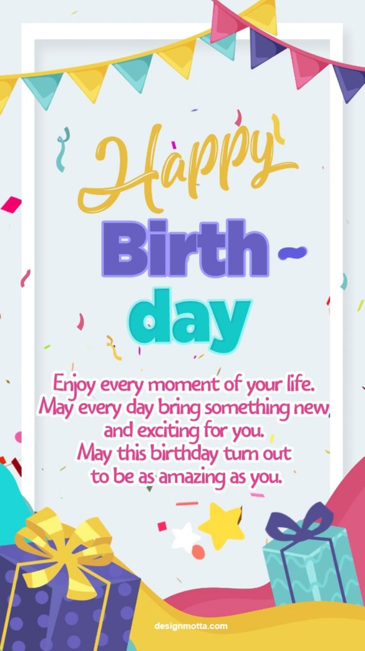� Happy birthday electronic card for friend and family / congratulations message