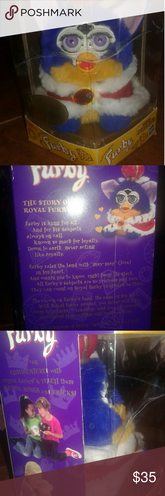 Vintage Limited Edition YOUR ROYAL MAJESTY FURBY New in original ...