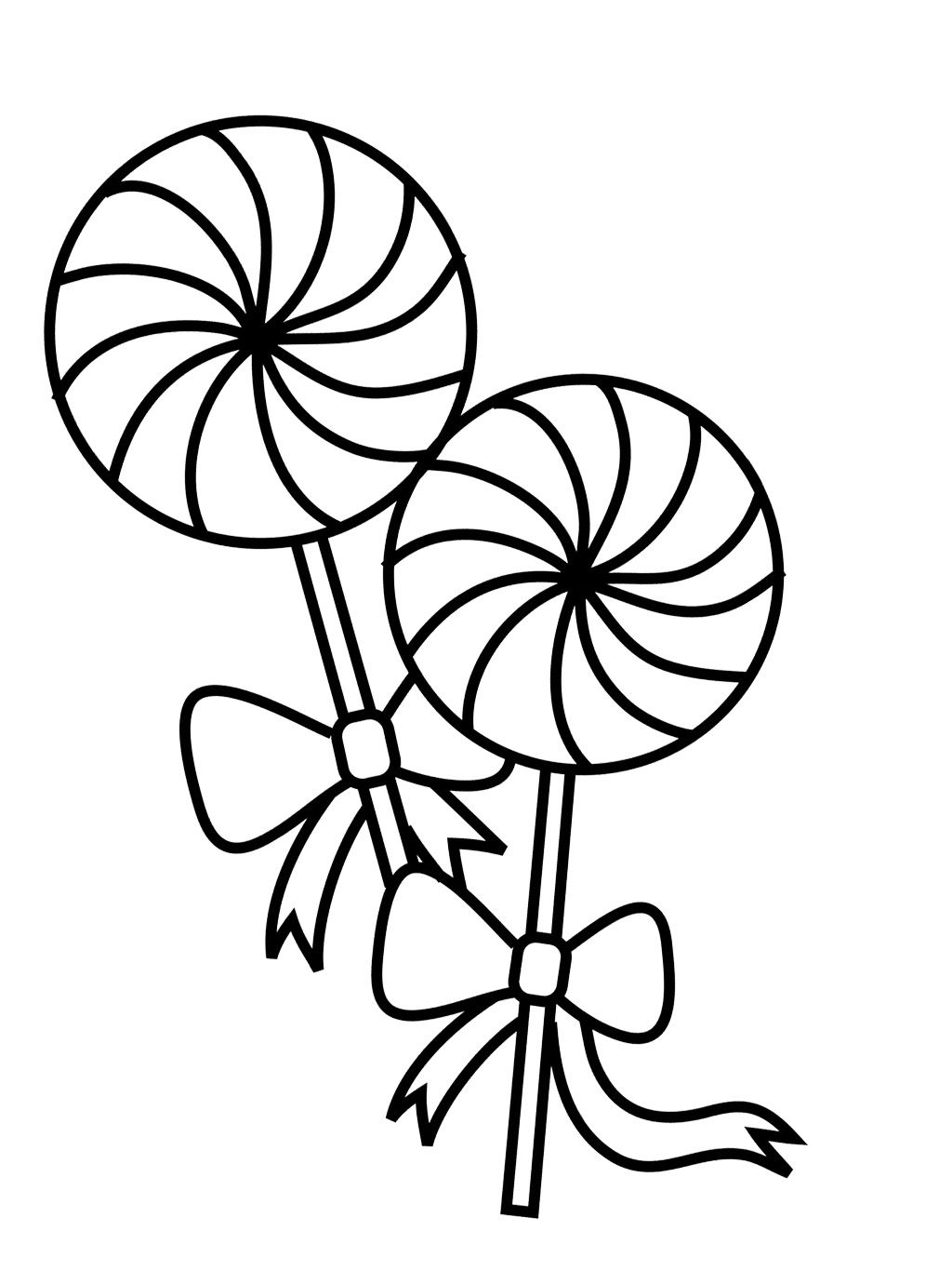 two lollipop coloring page - Lollipop Coloring Pages Printable